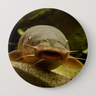 Electric catfish pinback button