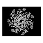 Electric Cats Knotwork Postcard