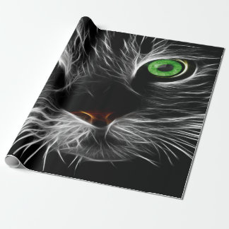 Electric Charge Cat Named Fred Wrapping Paper