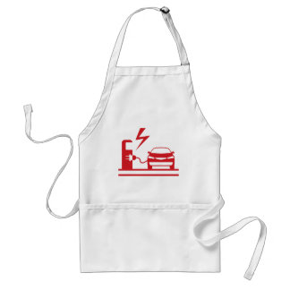Electric charging station adult apron