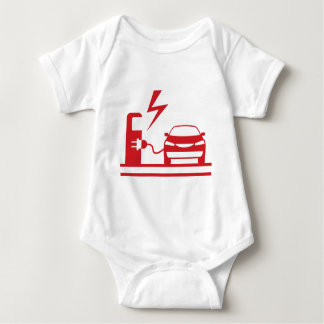 Electric charging station baby bodysuit