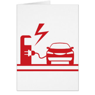 Electric charging station card