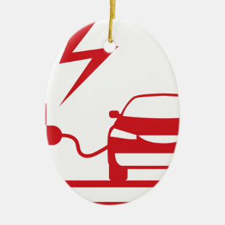 Electric charging station ceramic ornament