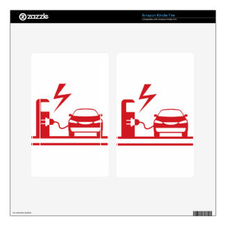 Electric charging station decal for kindle fire
