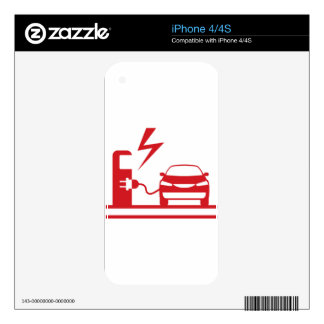 Electric charging station iPhone 4 skin