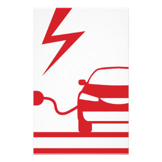 Electric charging station stationery