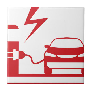Electric charging station tile