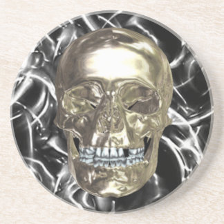 Electric Chrome Skull Coaster
