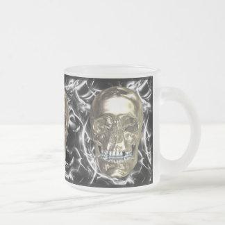 Electric Chrome Skull Mug