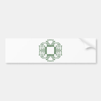 Electric Circuit Board Processor Bumper Sticker