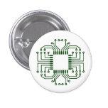 Electric Circuit Board Processor 1 Inch Round Button