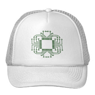Electric Circuit Board Processor Trucker Hat