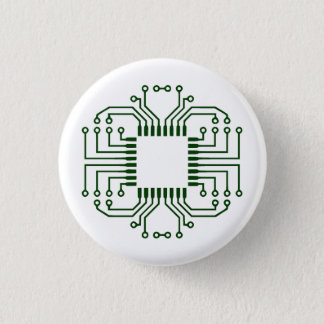 Electric Circuit Board Processor Pinback Button