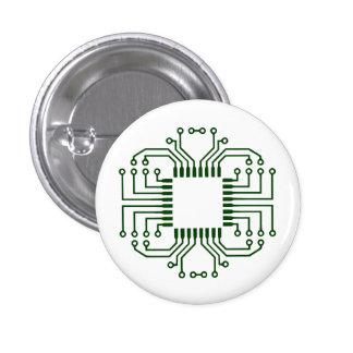 Electric Circuit Board Processor Pinback Button