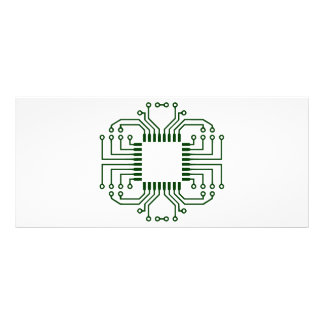 Electric Circuit Board Processor Rack Card Template