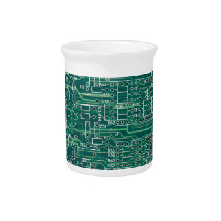 Electric circuit layout beverage pitcher