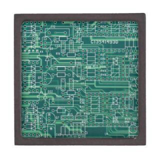 Electric circuit layout jewelry box