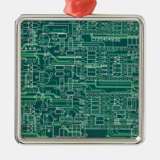 Electric circuit layout metal ornament