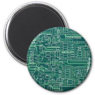 Electric circuit layout refrigerator magnet