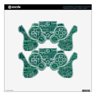 Electric circuit layout PS3 controller skin