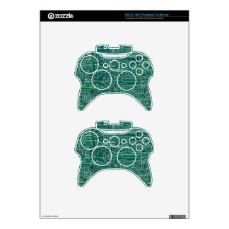 Electric circuit layout xbox 360 controller decal