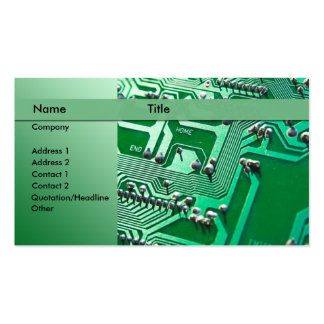 electric circuits - technician business cards