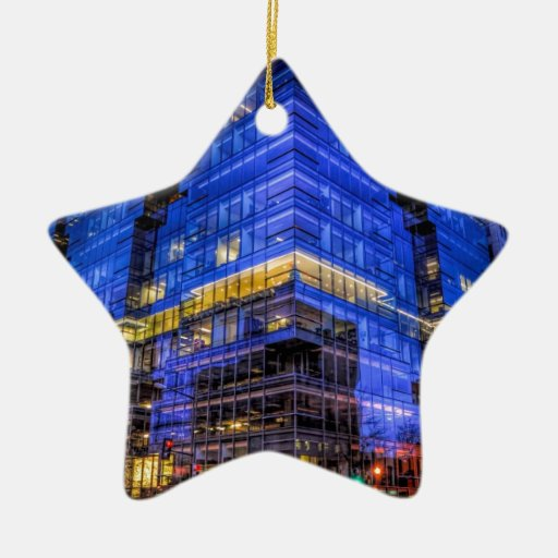 Electric City Double-Sided Star Ceramic Christmas Ornament