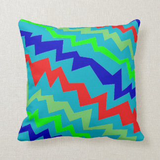Electric Colorful 2 Throw Pillow