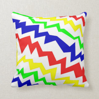 Electric Colorful Throw Pillow