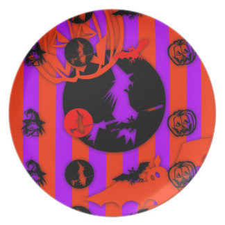 Electric Colors - Halloween - Dinner Plate