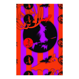 Electric Colors Pop Halloween Stationery