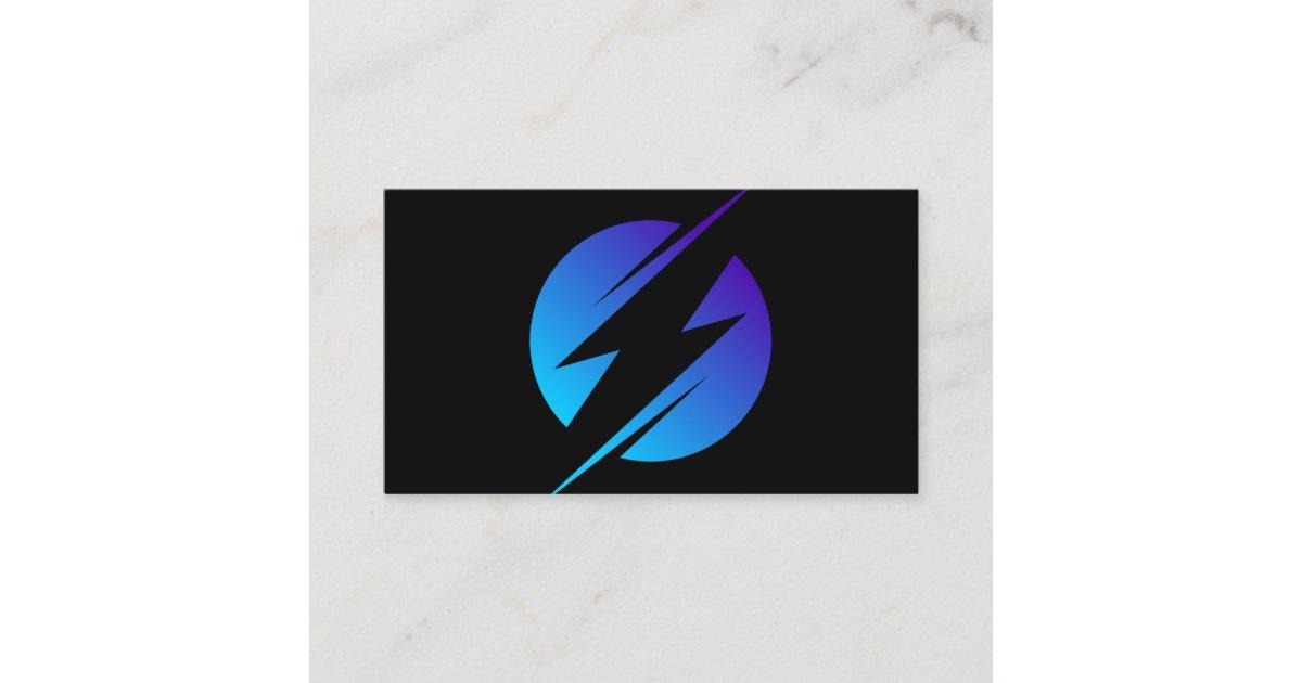 Electric Company Electrician Bolt Business Card Zazzle Com