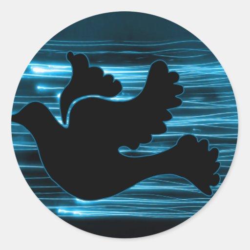 Electric Dove Classic Round Sticker