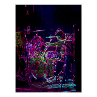 Electric Drummer Poster