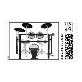 Electric Drums: Mesh Head Drum Set: Custom Stamps
