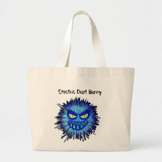 Electric Dust Bunny Large Tote Bag