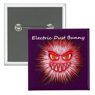 Electric Dust Bunny The Coal Blacks Part 2 2 Inch Square Button