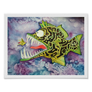 """Electric Ed"" Fish With Attitude Poster"