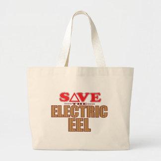 Electric Eel Save Large Tote Bag