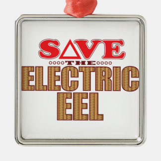 Electric Eel Save Metal Ornament