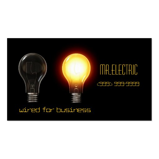 Electric, Electrician Business Card