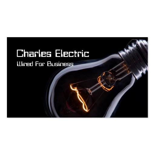 Electric Electrician Electricity Business Card : Zazzle