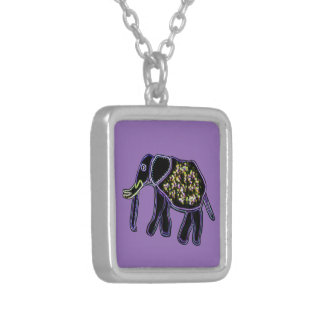 Electric Elephant Silver Plated Necklace