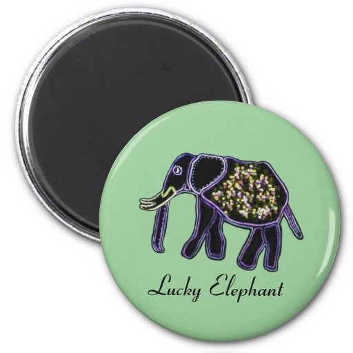 Electric Elephants Refrigerator Magnets