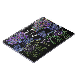 Electric Elephants Spiral Notebooks