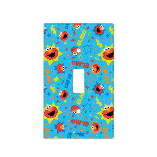 Electric Elmo Pattern Light Switch Cover