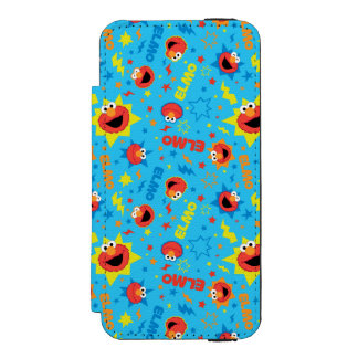Electric Elmo Pattern Wallet Case For iPhone SE/5/5s