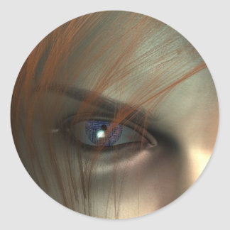 Electric eye classic round sticker