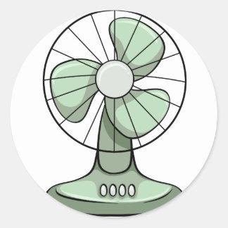 Electric fan classic round sticker