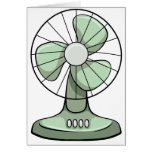 Electric fan greeting card